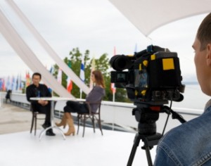 on location for business web video production