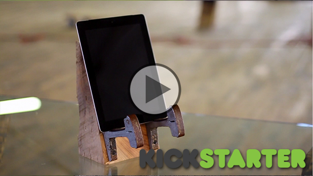 Rails to iPad Stand – Kickstarter Video Example