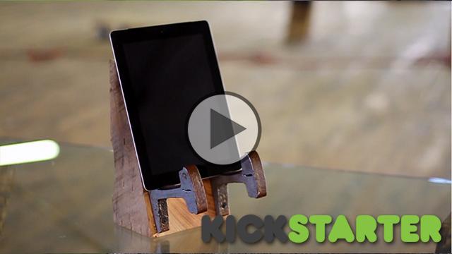 Rails to iPad Stand – Kickstarter Video Example