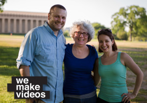 Videographers with our client after a great shoot