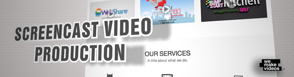 Screencast Video Production – Website Animation