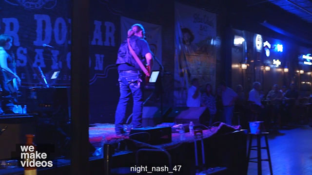 Band Playing Live in Bar at Night Nashville – Window – Free Video