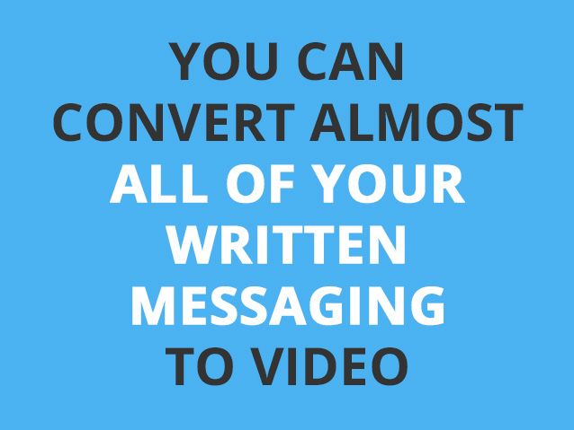 convert your messages to video