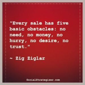 Obstacles in Sales