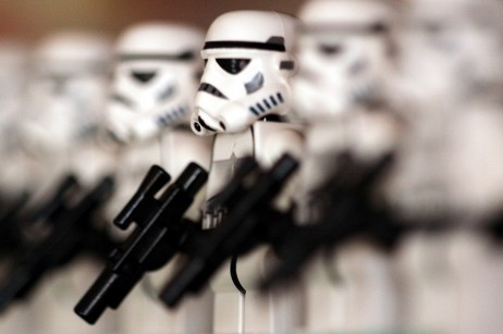 Storm Troopers showing how Depth of Field works