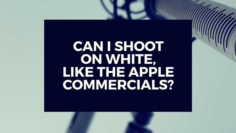 "image with text""Can I shoot on a white infinity wall?"""