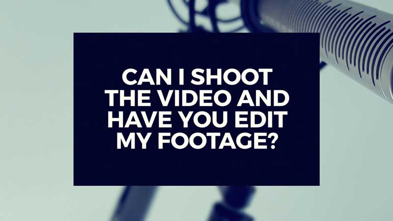 "image with text, ""Can I film my video and have WMV edit the footage?"""