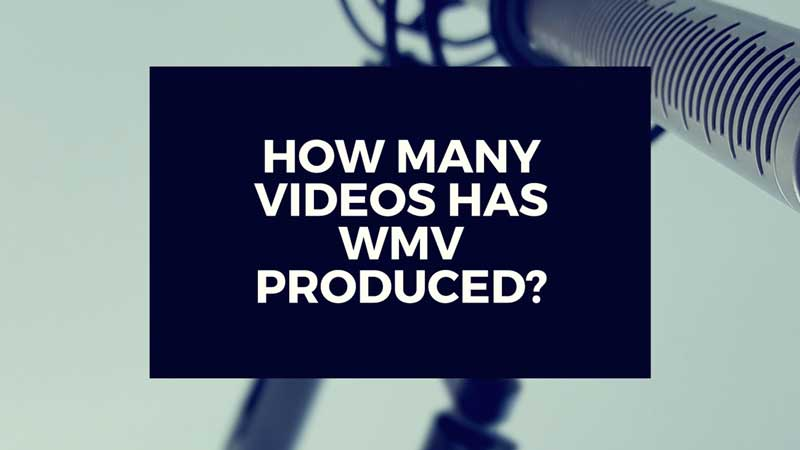 "image with text, ""How many videos has WMV Productions produced?"""