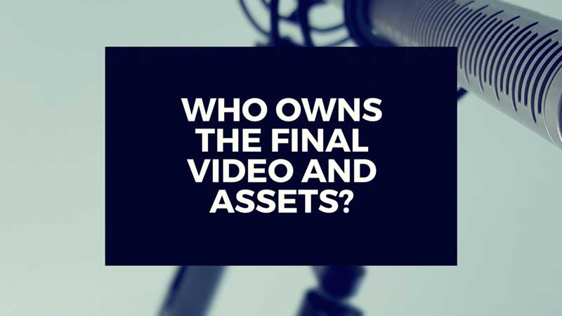 "image with text""Who owns the final video assets after my video is made?"""