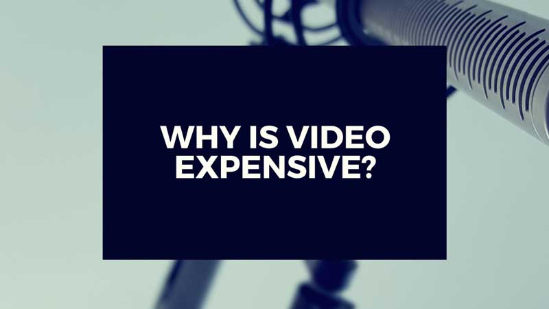 "image with text""Why is video production expensive?"""