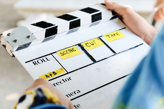Image of video production clapboard