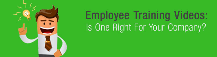 Employee training video production title card