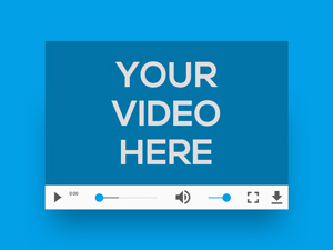 video player with text inside