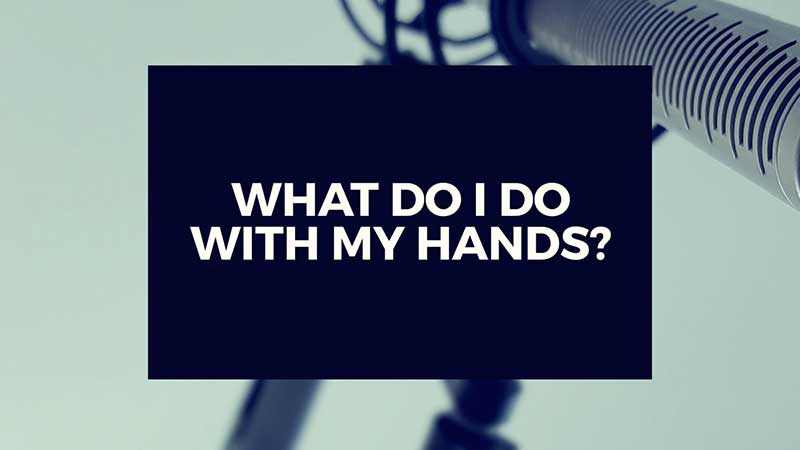 """image with text, """"What do I do with My Hands?"""""""