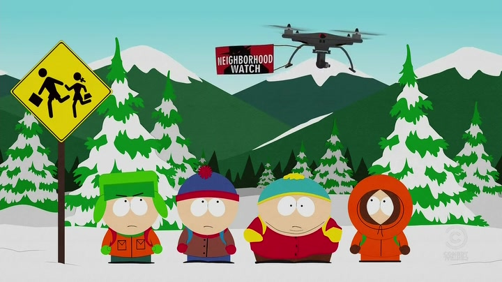 Drone Scene from South Park